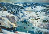 Зима в Уральских горах